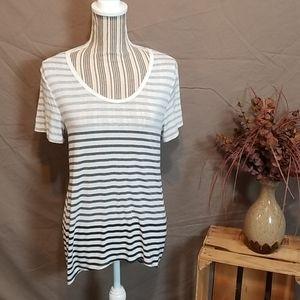 Athleta Striped Short Sleeve Tunic T-Shirt